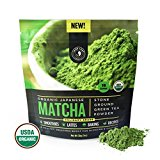 Matcha Green Tea Powder, Organic – Authentic Japanese Origin, Superior Quality, Classic Culinary Grade (Smoothies, Lattes, Baking, Recipes) – Antioxidants, Energy – Jade Leaf Brand [30g Starter Size]