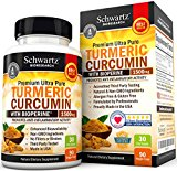 Turmeric Curcumin with Bioperine 1500mg. Highest Potency Available. Premium Pain Relief & Joint Support with 95% Standardized Curcuminoids. Non-GMO, Gluten Free Turmeric Capsules with Black Pepper
