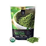 Matcha Green Tea Powder, Organic – Authentic Japanese Origin, Superior Quality, Classic Culinary Grade (Smoothies, Lattes, Baking, Recipes) – Antioxidants, Energy – Jade Leaf Brand [100g Value Size]
