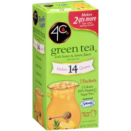 4C Totally Light Green Tea, 7 ct