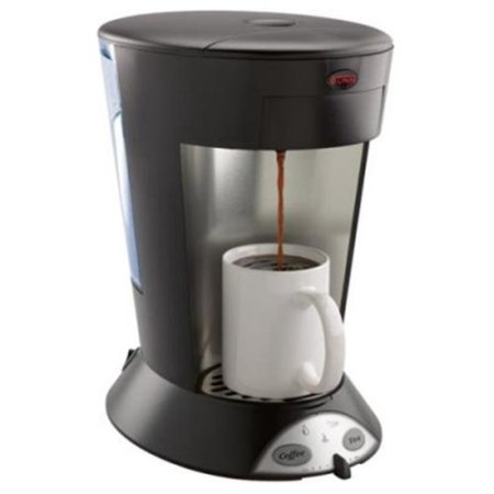 35400.0004 MCP My Cafe Pourover Commercial Grade High Altitude Pod Brewer with Removable Water Reservoir 2 Pod Holders and Energy Saver Mode in Black