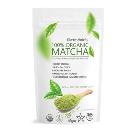 Culinary Starter Matcha (16oz) USDA Organic, Kosher; Non-GMO, Vegan and Gluten Free, Pure Green Tea Matcha Powder