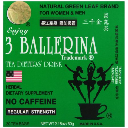 3 Ballerina Dieters Tea for Men and Women (3 Boxes of 30 Tea Bags)