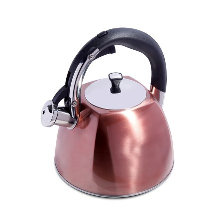 Belgrove 2.5 Qt Whistling Tea Kettle – Copper – Nylon Handle – SS