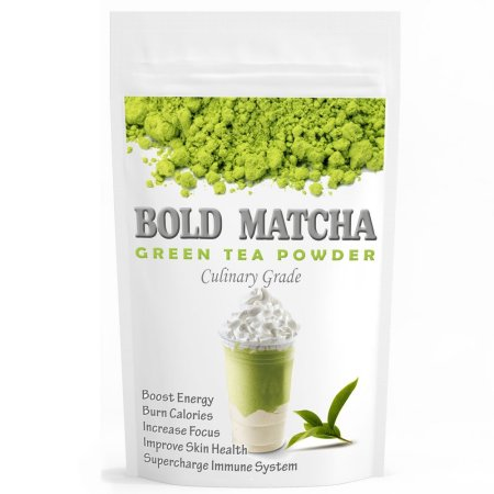 Bold Matcha (160z) – USDA Organic, Kosher & Non-GMO Certified, Vegan and Gluten-Free. Pure Matcha Green Tea