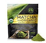 Organic Matcha Green Tea Powder, Japanese Premium Culinary Grade, Unsweetened & Sugar Free – USDA & Vegan Certified – 30g (1.06 oz) – Perfect for Baking, Smoothies, Latte, Iced tea & Weight Loss.