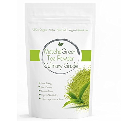Culinary Matcha (16oz) Culinary Green Tea – USDA Organic – Perfect for Making Green Tea Latte or Frappe