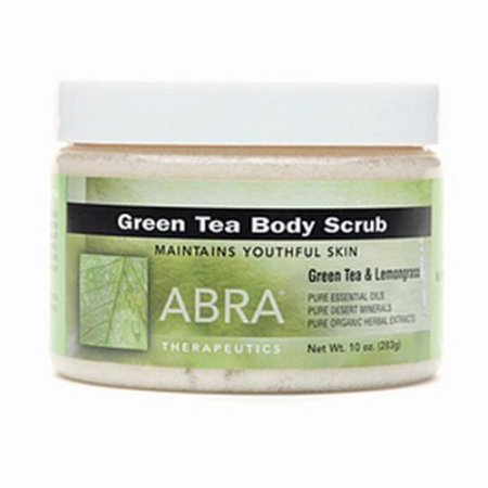 Abra Therapeutics Body Scrub With Green Tea And Lemongrass – 10 Oz
