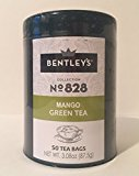Bentley's harmony tin collection mango green tea 50 tea bags (3 pack)