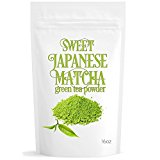 Sweet Japanese Matcha (16oz) Green Tea Powder Mix- Made with Japanese Matcha - Perfect for Making Matcha Green Tea Latte or Frappe