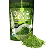 Organic Matcha Green Tea Powder – 100% Pure Matcha (No Sugar Added – Unsweetened Pure Green Tea – No Coloring Added Like Others) 4oz