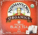 Newman's Own Organic Black Tea – 100 Bags,7.1 OZ.